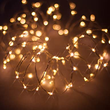 Christmas Lights.Micro Led Christmas Fairy Lights On Thin Wire Led String Lights By Qbis Uk Warm White Silver Wire 100 Leds