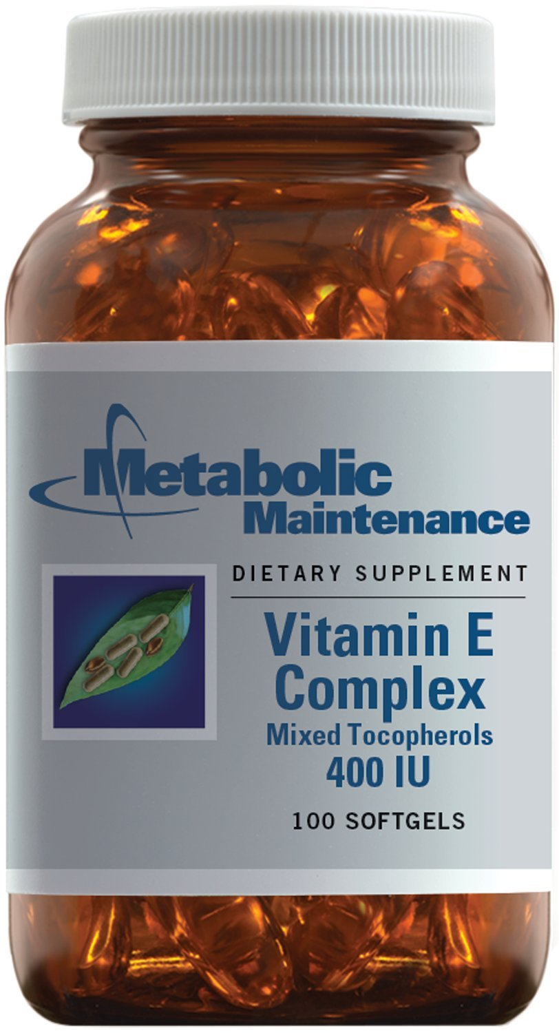 Metabolic Maintenance - Vitamin E Complex - 400 IU, Antioxidant Activity + Higher Absorption, 100 Capsules