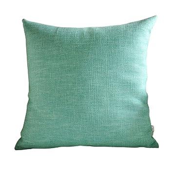 Amazon.com: Almohada de tela de lino para sofá, oficina ...