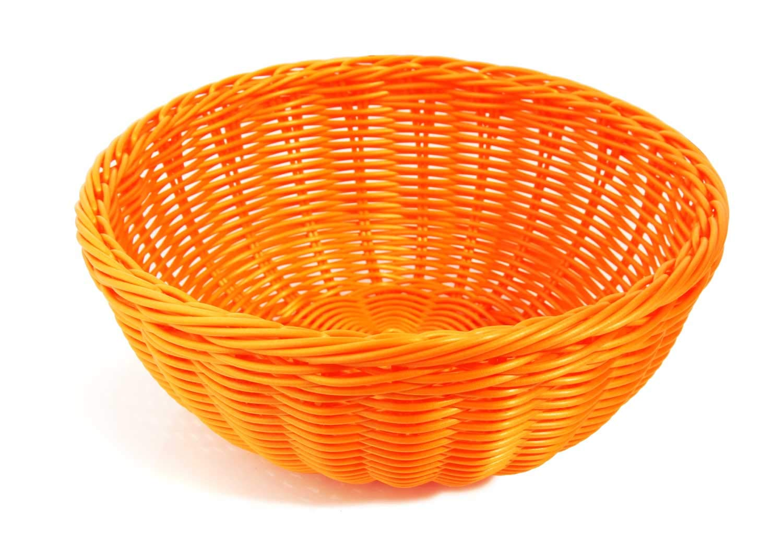 Colorbasket Hand Woven Waterproof Bowl Basket, Bright Orange