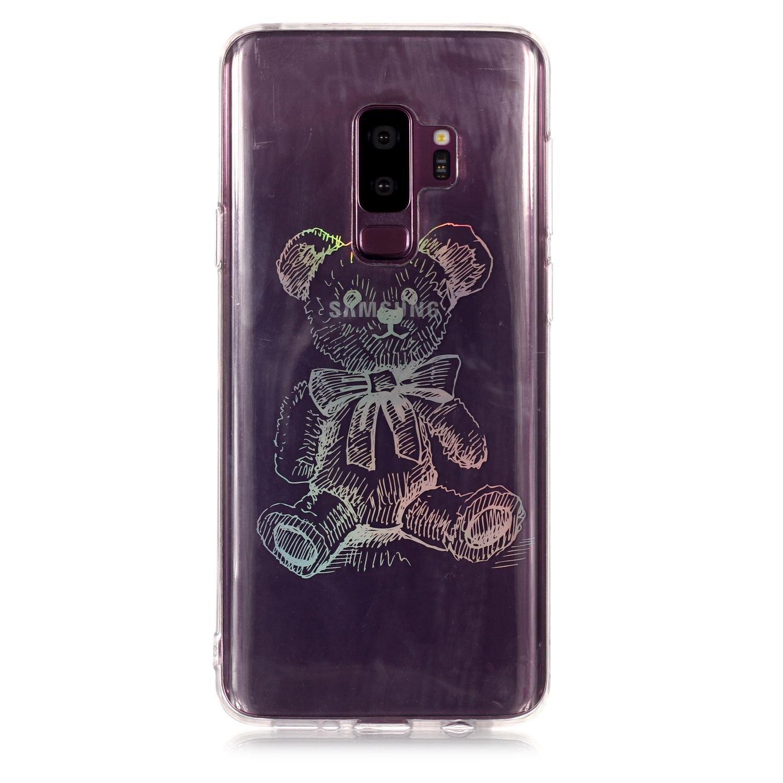 Lomogo Coque Samsung Galaxy S9+ (S9 Plus) [Transparente avec Motif], Housse Gel Silicone Anti-Choc Anti-Rayures Souple Coque de Protection pour Samsung Galaxy S9+ (S9Plus) - LOYHU21545#9