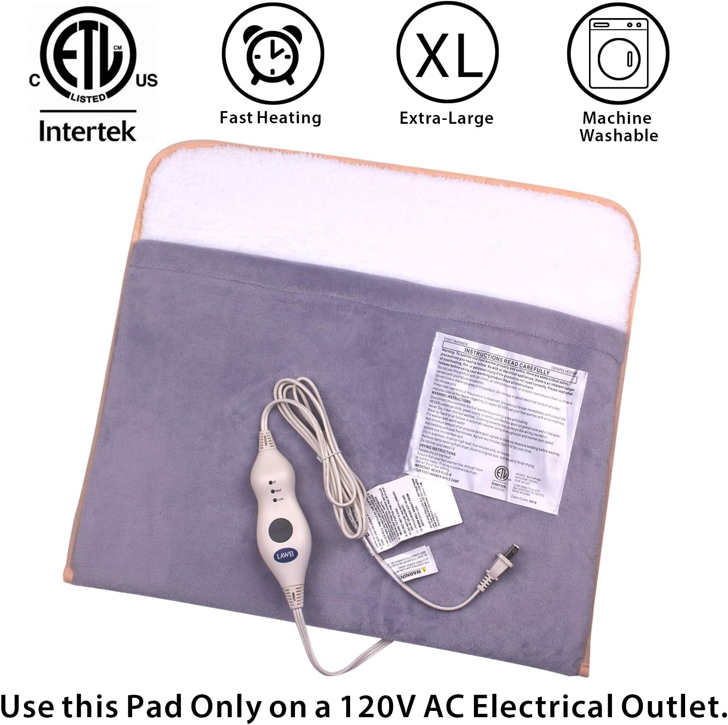 Details about  /USB Electric Washable Heating Foot Warmer Keeping Heat Winter Massage Wrap Pads