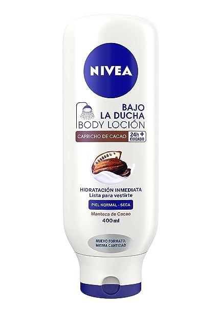 8e0eda5eaa3 NIVEA Bajo la Ducha Capricho de Cacao (1 x 400 ml), loción hidratante para  la ducha, acondicionador de piel con manteca de cacao para piel seca y ...