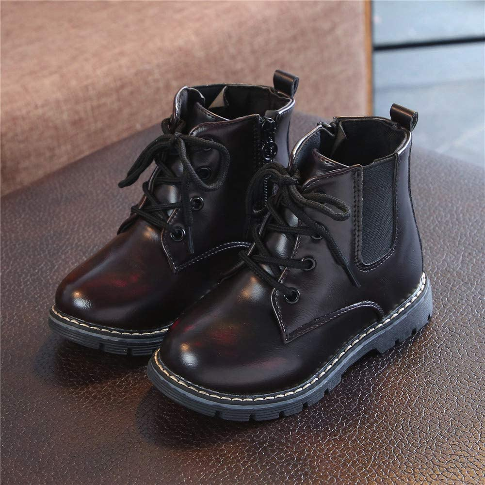 Baby Printed Boots Party Shoes Lace Up Ankle Boots Lonshell 1-6 Years Old Kids Waterproof Waliking Shoes Children Girls Boys Autumn Casual Shoes Anti Slip High Top Sneaker