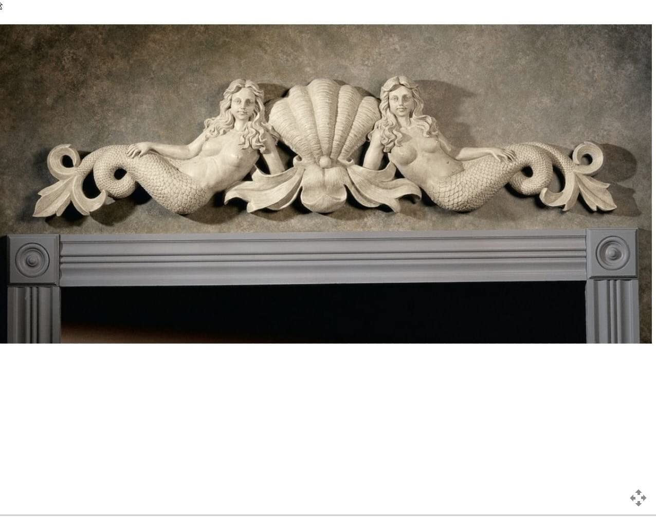 Twin Mermaid Wall Door Architecture Pediment XoticBrands