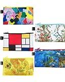 LOQI Museum Zip Pockets, (Set of 5), Van Gogh