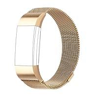 AdePoy Für Fitbit Charge 2 Armband, Milanese Edelstahl Ersatzarmband Smart Watch Armbänder für Fitbit Charge 2