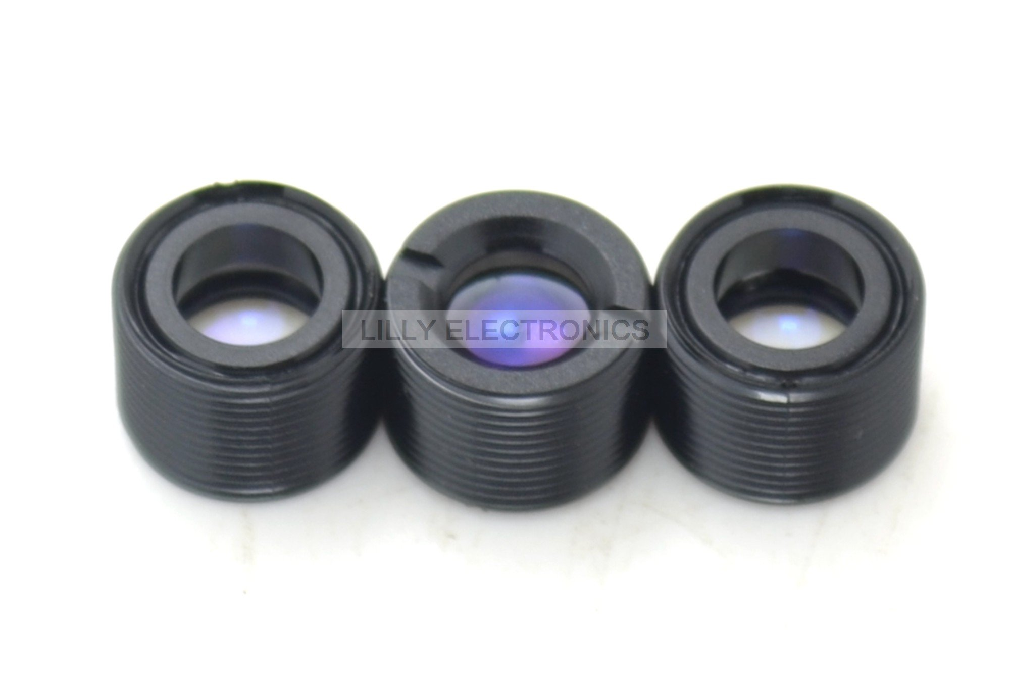 3pcs Coated Plastic Collimating Lens for 630nm-680nm Laser Module with M9x0.5 Screw