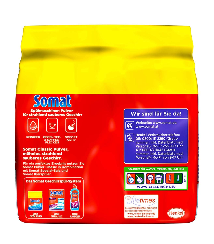 Amazon.com: Somat lavaplatos Detergente en polvo con oxígeno ...