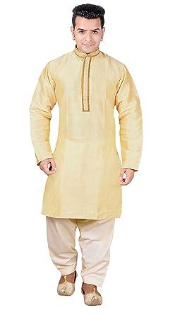 Amazon.com: Hombre indio Kurta Salwar Kameez conjunto de ...