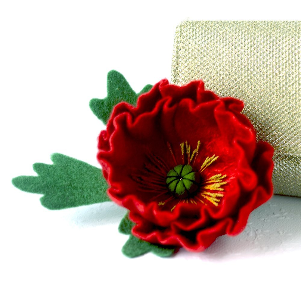5ea0e83e339 Mothers Day Gift Red Poppy Brooch Felted Poppy Pin Flower Brooches Poppy  Jewellery Red brooch Flower Broach Wool Jewelry Original Gift Ideas for  Woman ...