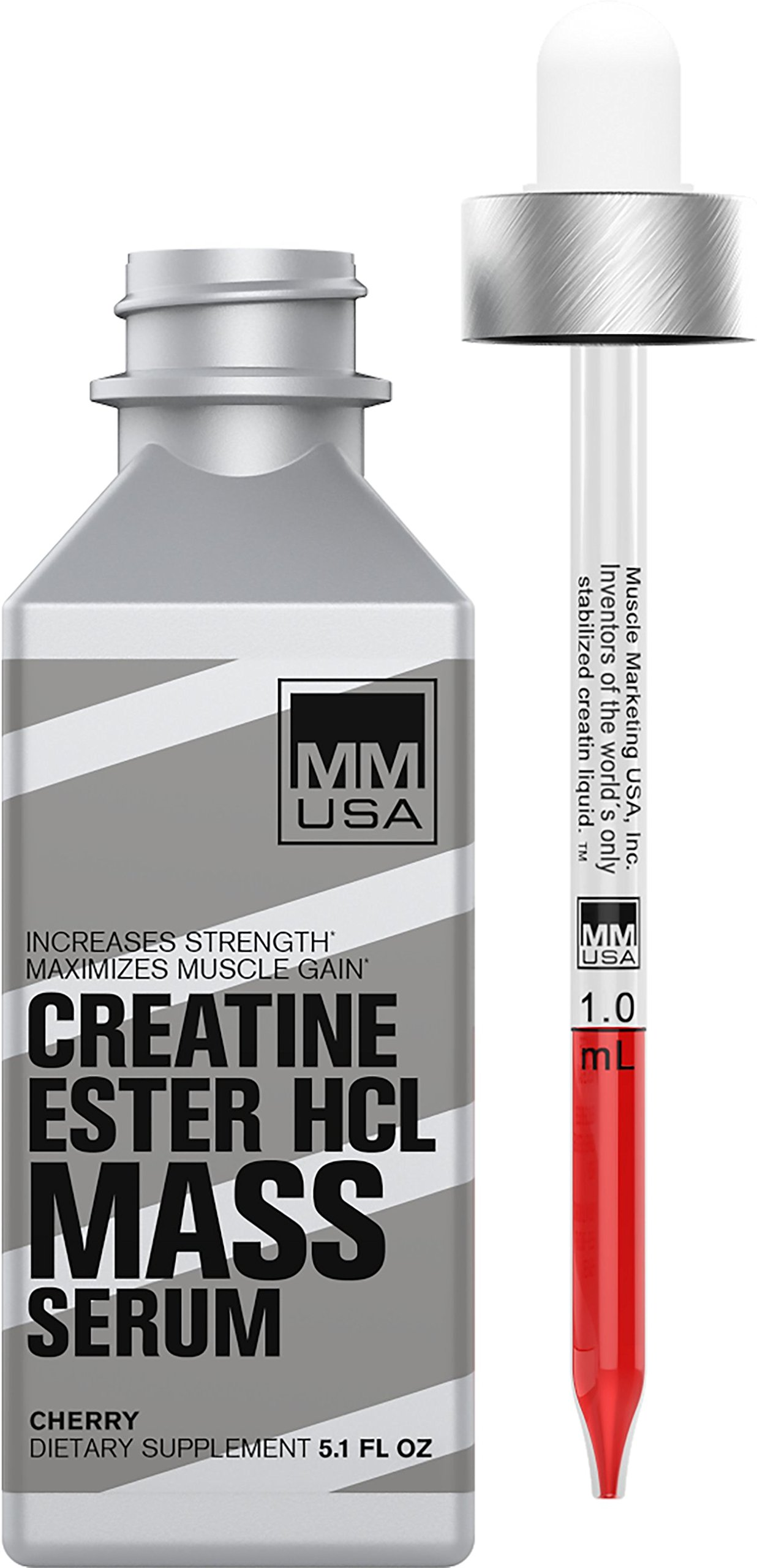MMUSA HCL Muscle Mass Lean Muscles Gainer & Creatine Energy Booster | Strength Pre-Workout Liquid Serum ● Weightlifting Stamina and Energy from L-Carnitine, L-Glutamine and Nitric Oxide by MMUSA