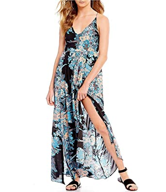 d866999a445 Free People Through The Vine Floral Print Maxi Dress XSmall at Amazon  Women s Clothing store
