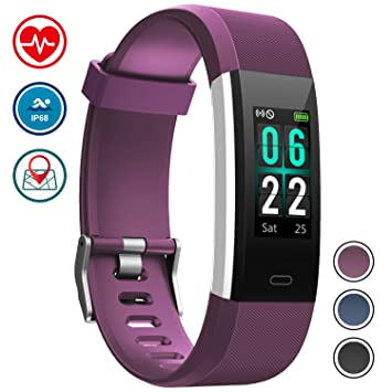 Pulsera Monitor de Actividad Pulsómetro y Podómetro para Mujeres Impermeable IP67, con Bluetooth Contador de Pasos y Monitor de Sueño para ...