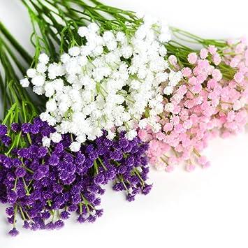 Amazon De Kunstblumen Schleierkraut Blumenstrauss Dekorative Blumen
