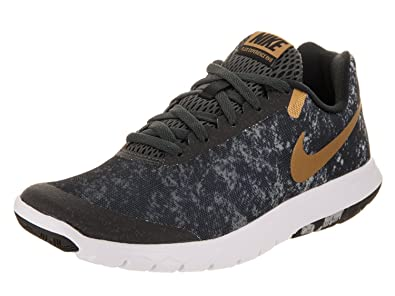 9d32cd6904a7 NIKE Flex Experience RN 6 Premium Black Metallic Gold Anthracite White  Women s Running