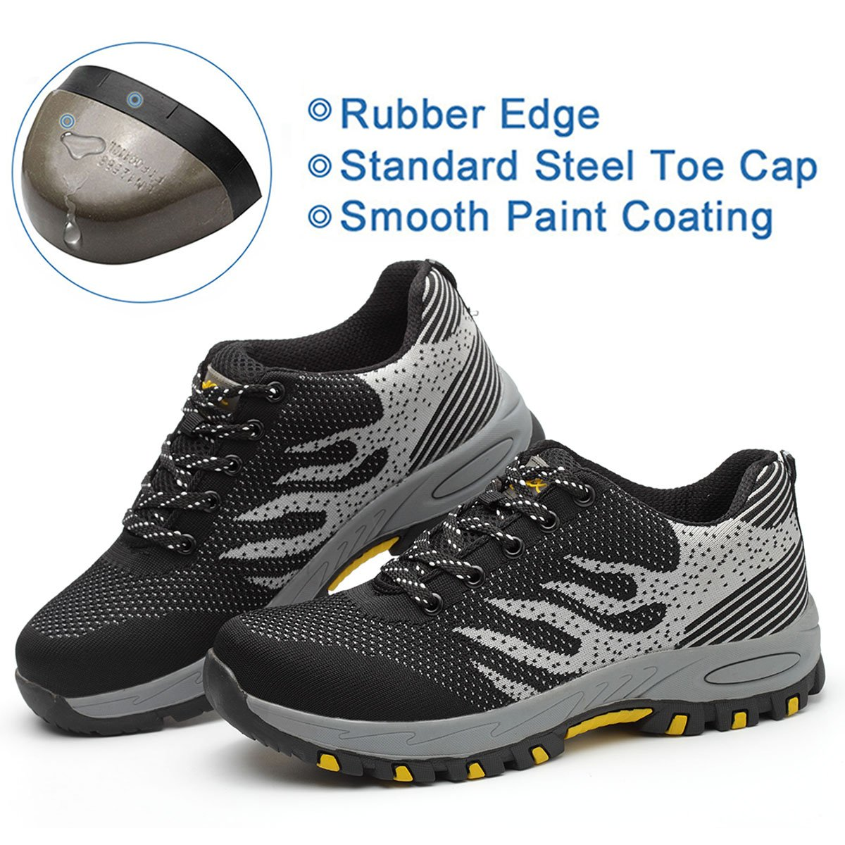3aefd4173d74 SUADEX Steel Toe Shoes Men, Work Shoes, Safety Shoes, Steel Toe ...