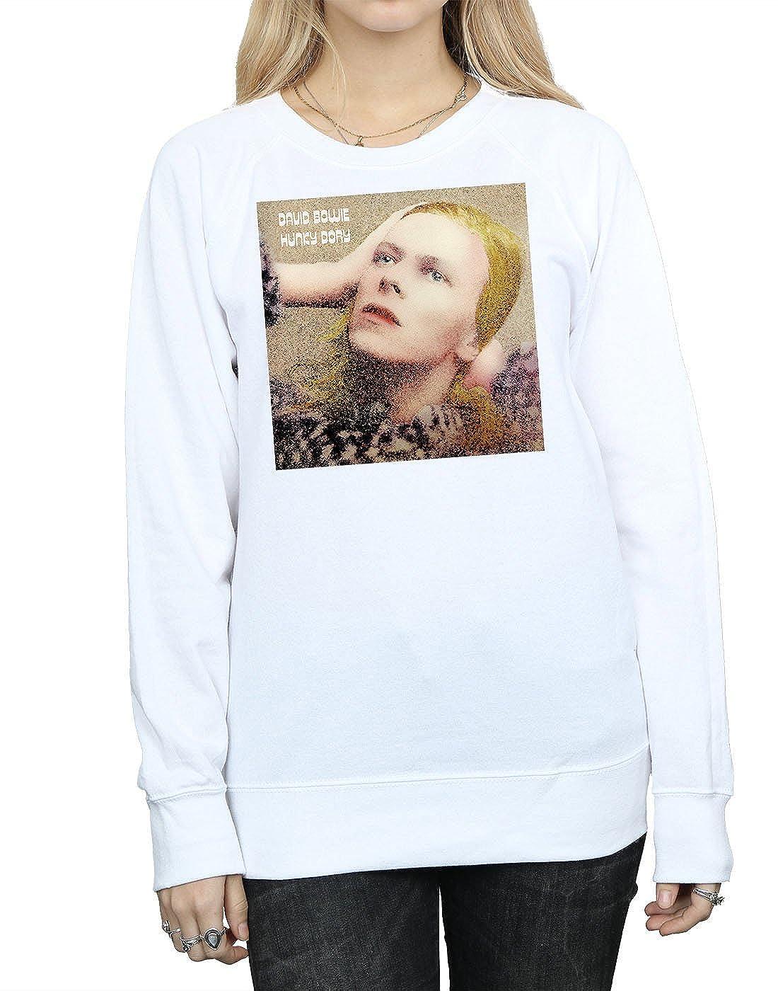 946cc5c7177a Absolute Cult David Bowie Femme Hunky Dory Album Cover Sweat-Shirt   Amazon.fr  Vêtements et accessoires