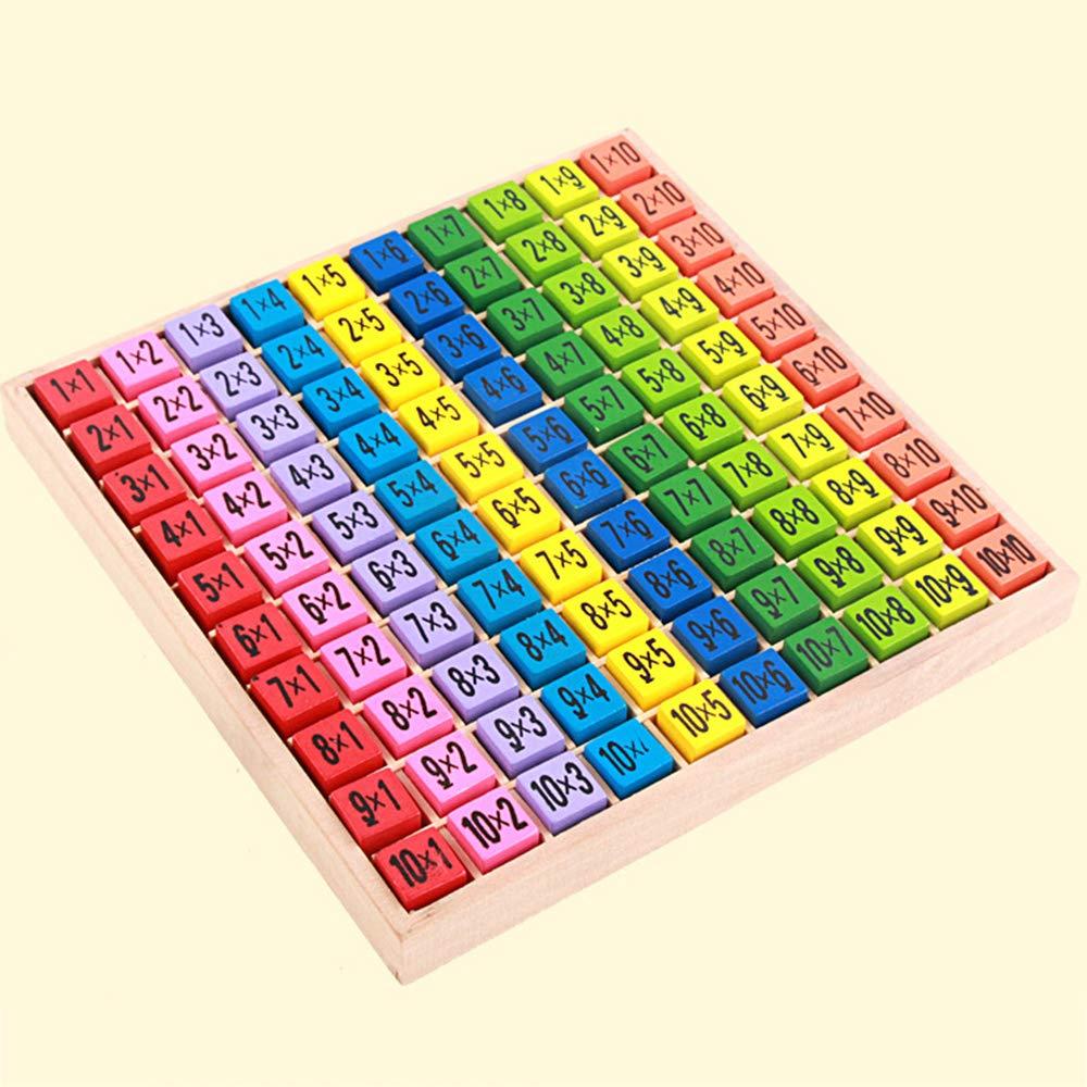 Shxuezon Tabella di Moltiplicazione Tabelline Matematica Educativi Giocattoli di Legno