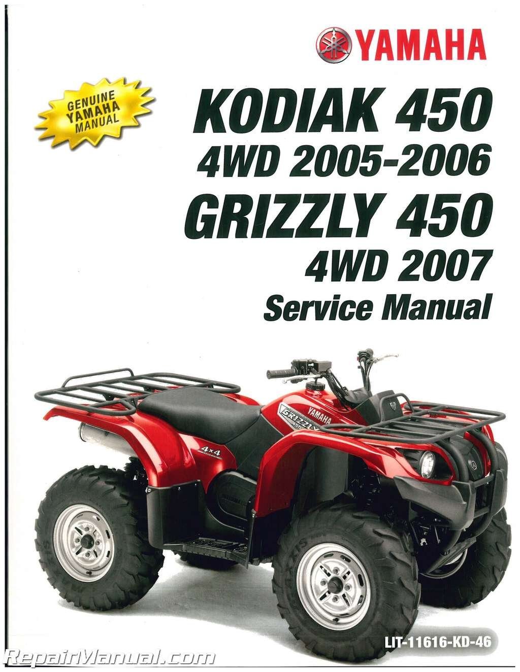 LIT-11616-KD-46 2003-2006 Yamaha Kodiak 450 4WD 2007 Grizzly