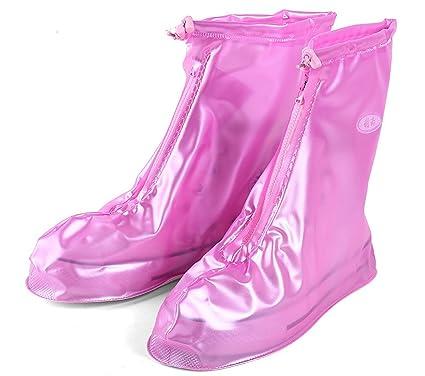 Zapatos cubierta de la lluvia de la nieve calzado antideslizante Rosa Más 3GgDpOTFo