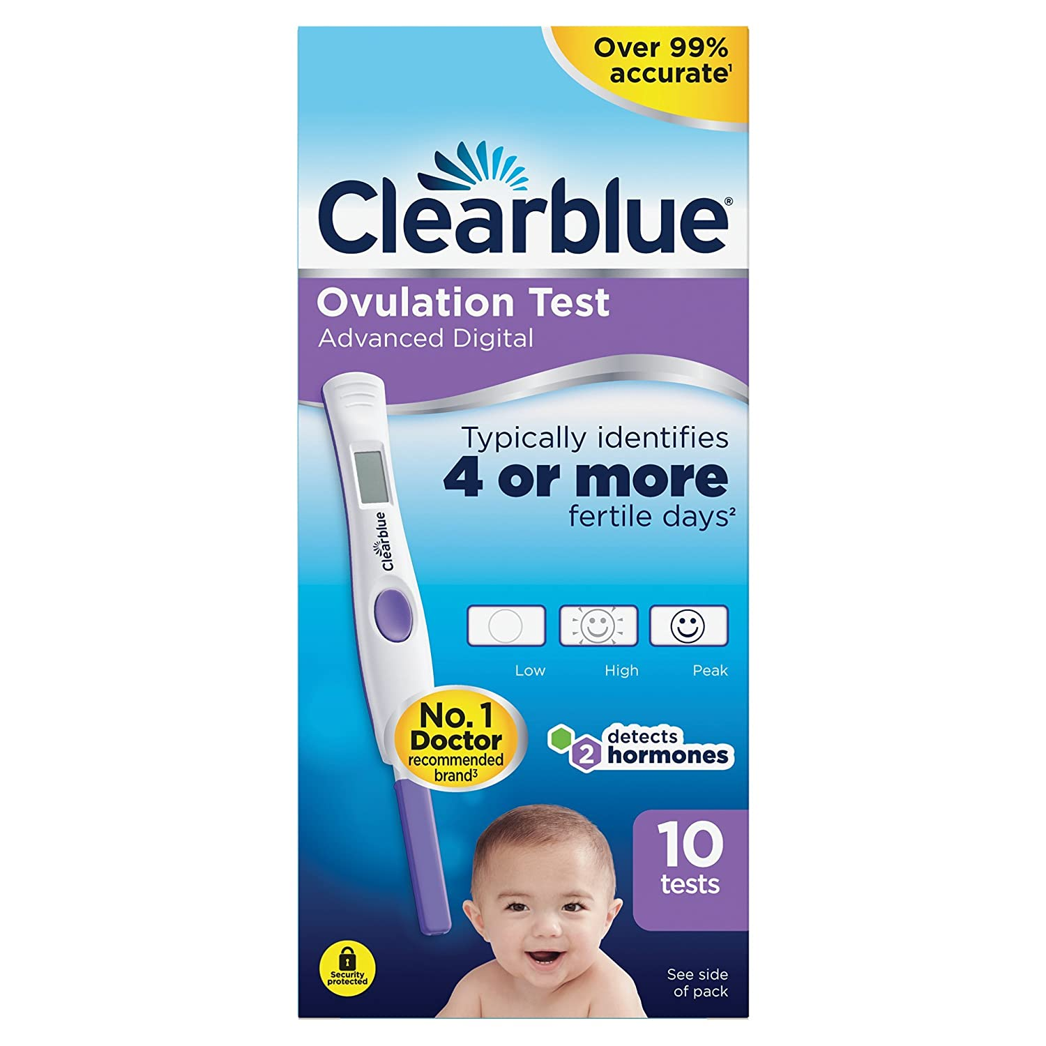 Clearblue Advanced Digital Ovulation Test--Pack of 10 Sticks HealthLand 81411794