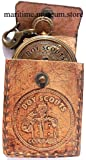 Boy Scouts Brass Compass with Leather Case.C-3113
