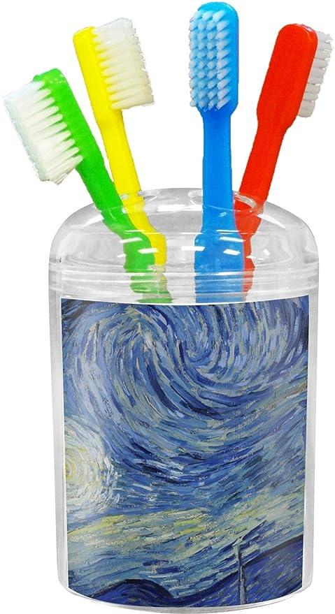 La noche estrellada (Van Gogh 1889) vaso para cepillos de dientes