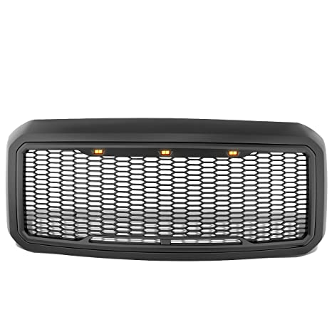 Paragon Front Grille for 2011-16 Ford F250//F350 Matte Black Raptor Style Full Front Grilles with Mesh