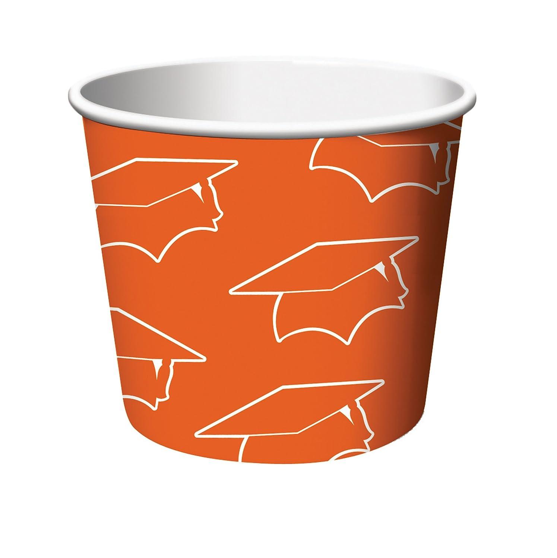 Creative Converting 6 Count Graduation Treat Cups Orange