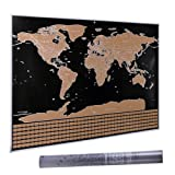 """Amazon Price History for:32.5"""" x 23.4"""" Scratch Off World Map, CNSUNWAY LIGHTING Travel Map Poster (Scratch Off World Map)"""