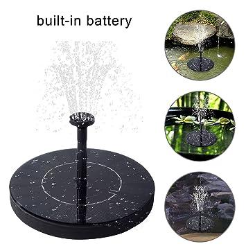 JIMS STORE Bomba de Agua Solar con Respaldo de batería, Bomba Solar Flotante Panel de