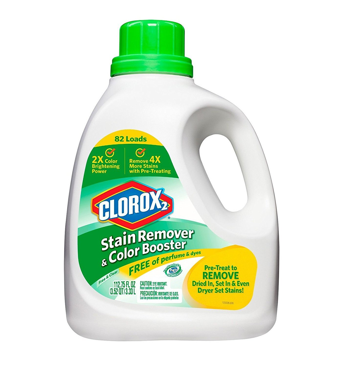 Clorox 2 H.E. Stain Remover & Color Booster, 112.75 Fluid Ounce