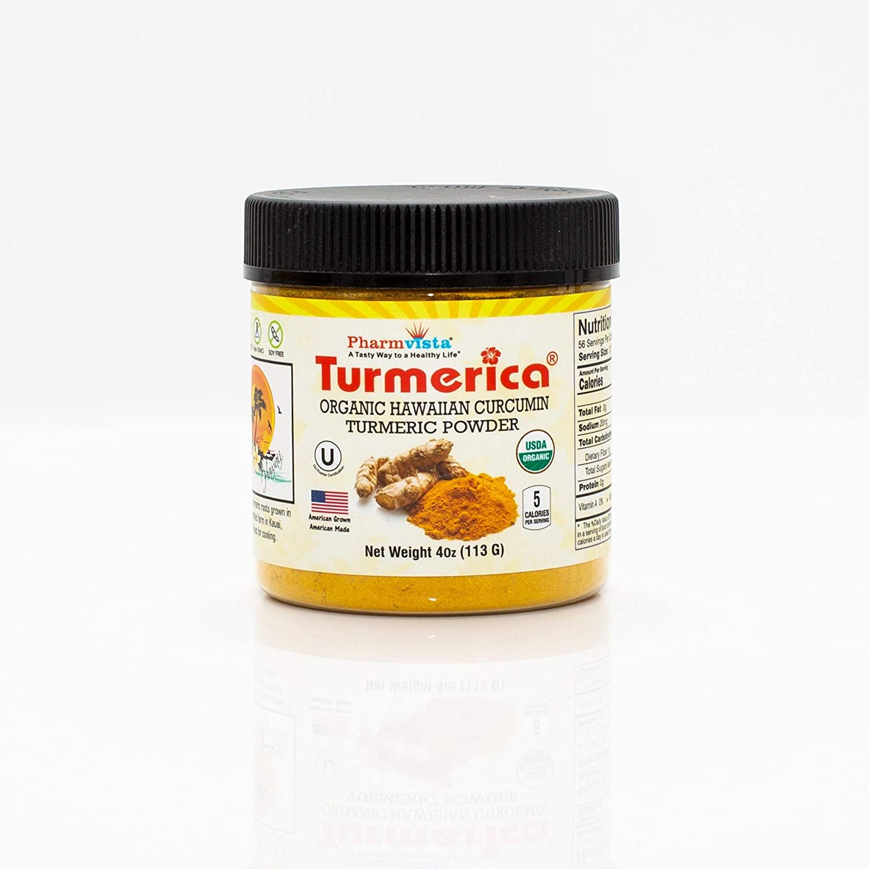 Organic Hawaiian Turmeric Powder 4oz, Great for Cooking, Smoothies, Season Food. Gluten Free & Allergen Free.