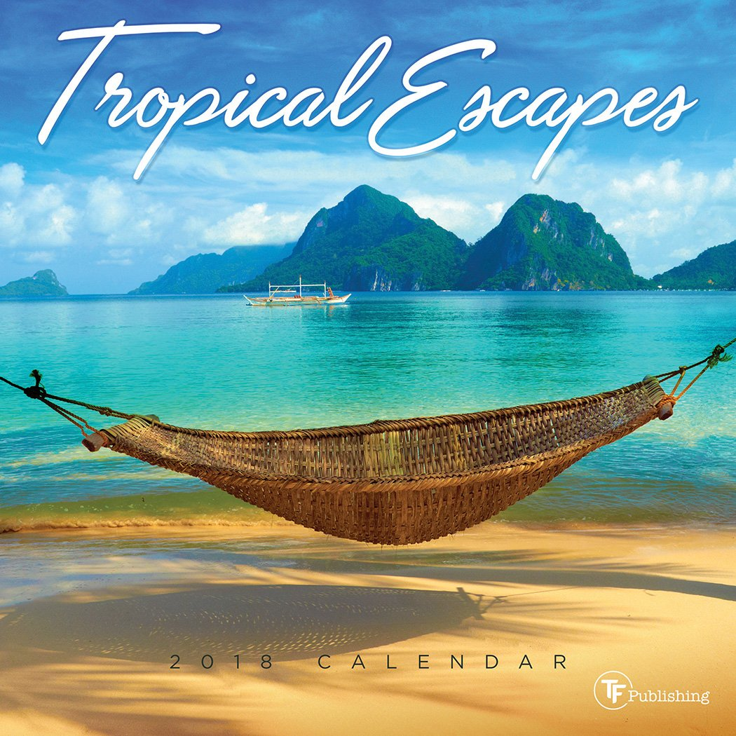 2018 Tropical Escapes Mini Calendar by Time Factory