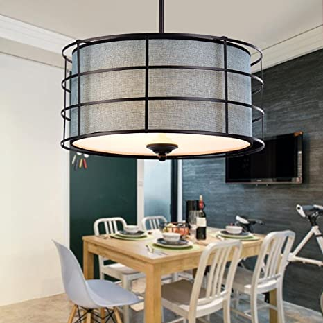 Moderno colgante redondo luces lámpara de techo para salón ...