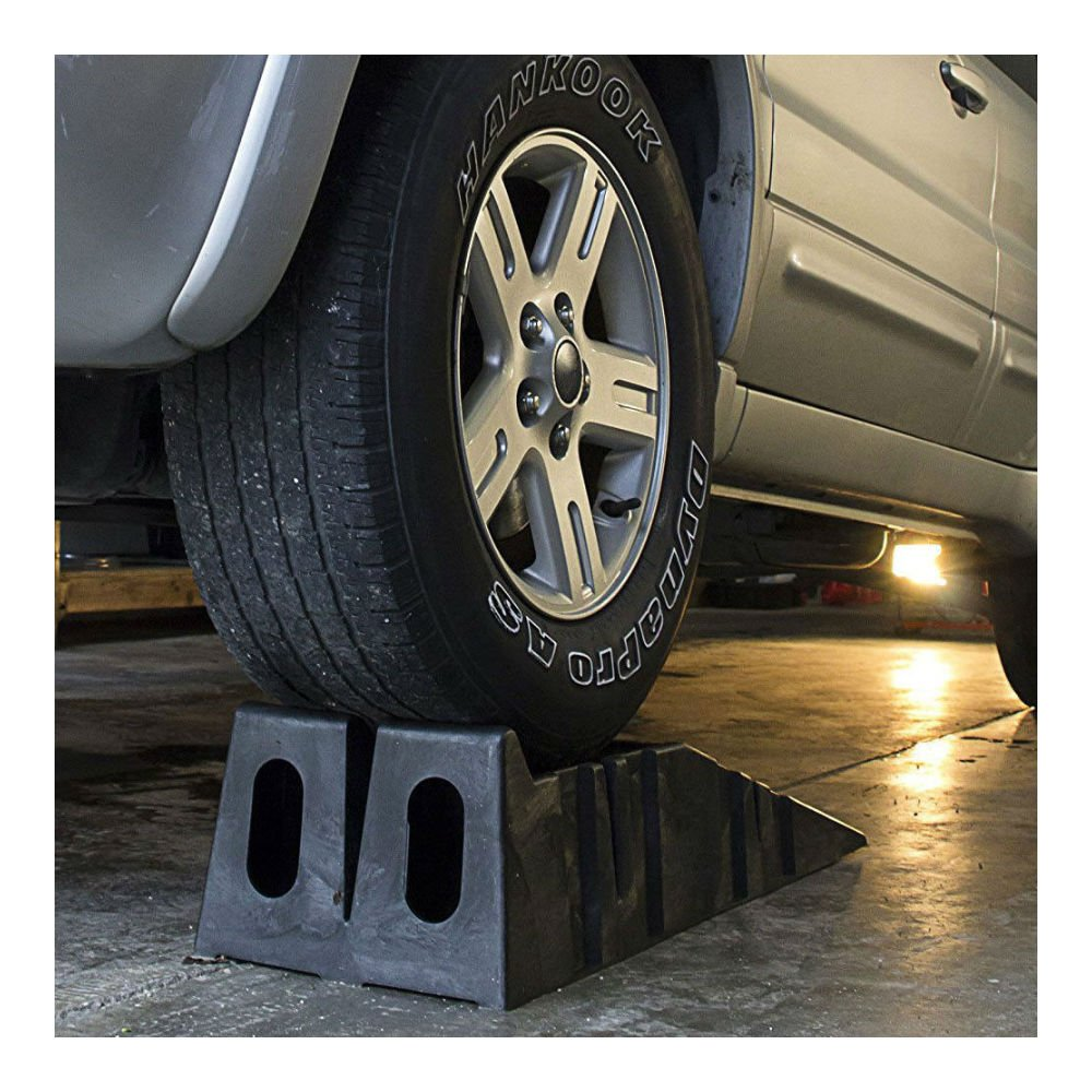 12000 LB Heavy Duty Plastic Ramps Truck SUV Trailer Car Oil Change Lift Tool