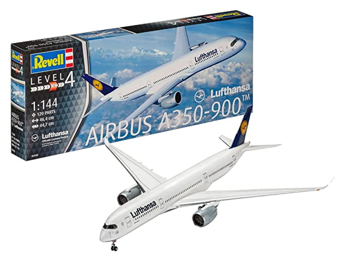 0d028a4af717 Amazon.com  Revell of Germany Airbus A350-900 Lufthansa Building Kit ...