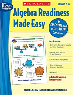 Worksheet Algebra Readiness Worksheets amazon com practice algebra readiness grades 4 8 made easy 7 an essential part of every math