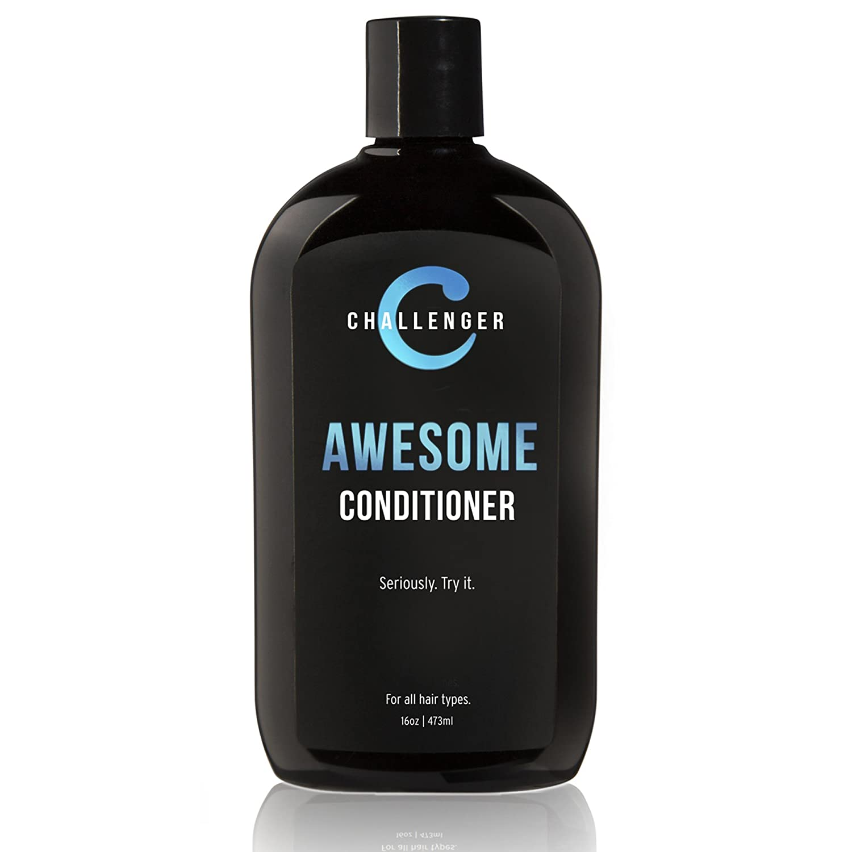 Challenger Argan, Jojoba, Shea Butter, Aloe Conditioner - 16oz - Premium Ingredients Tingle - Coconut Oil, Jojoba Oil, Hydrolyzed Keratin, Vitamin B5. No Sulfates & Gluten Free. (2-3 Month Supply)