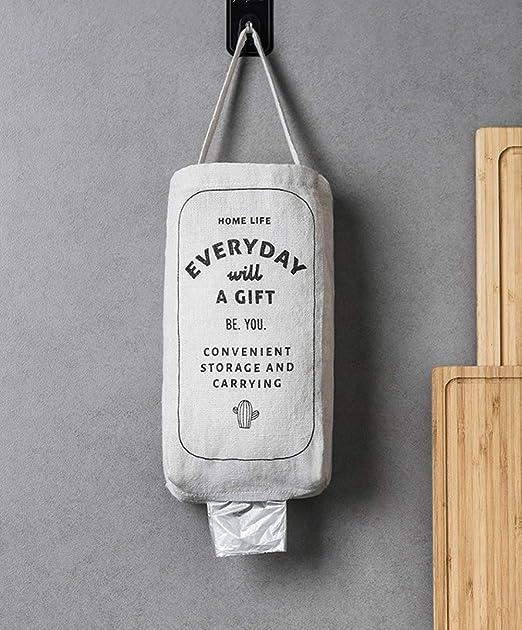 Soporte de plástico para bolsas, soporte de pared de lino ...