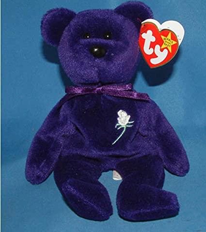 e2fecbd3e02 Image Unavailable. Image not available for. Color  Ty Princess Diana - (L3)  PVC China Rare 1st Edition Beanie Baby