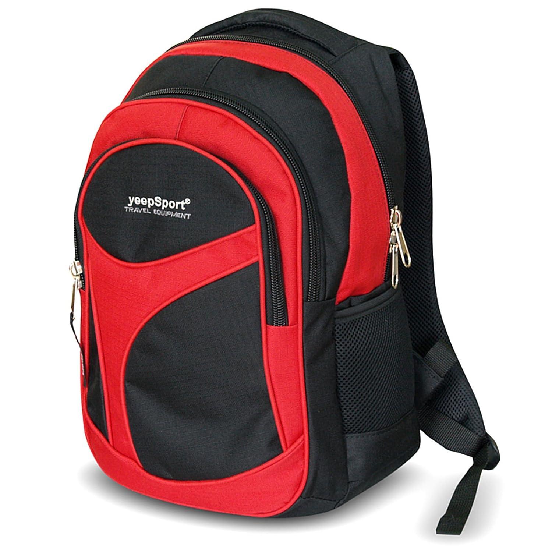YEEPSPORTスクールバックパック、レッド(レッド) - S104-65-レッド   B077QGQF14