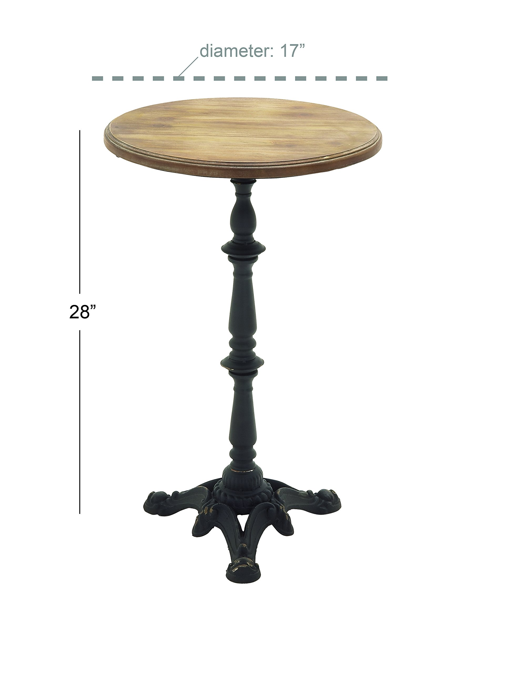 Deco 79 56554 Metal Wood Accent Table, 17'' x 28''