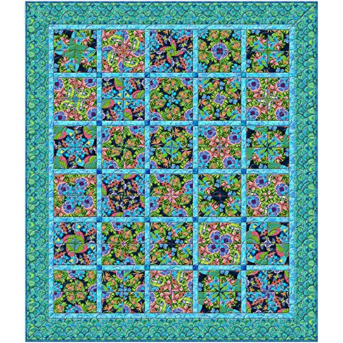 Wilmington Prints Hello Angel Paradise Falls Kaleidoscope Throw Quilt Kit 67.5 by 78.75 inches