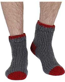 Christmas Pudding warm handmade wool sofa socks brownBy Pachamama