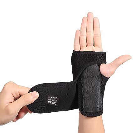 AOLIKES Muñequera Soporte Férula Muñeca Mano para Túnel Carpiano Esguinces Escafoides Distensiones Artritis Tensión Izquierda Derecha