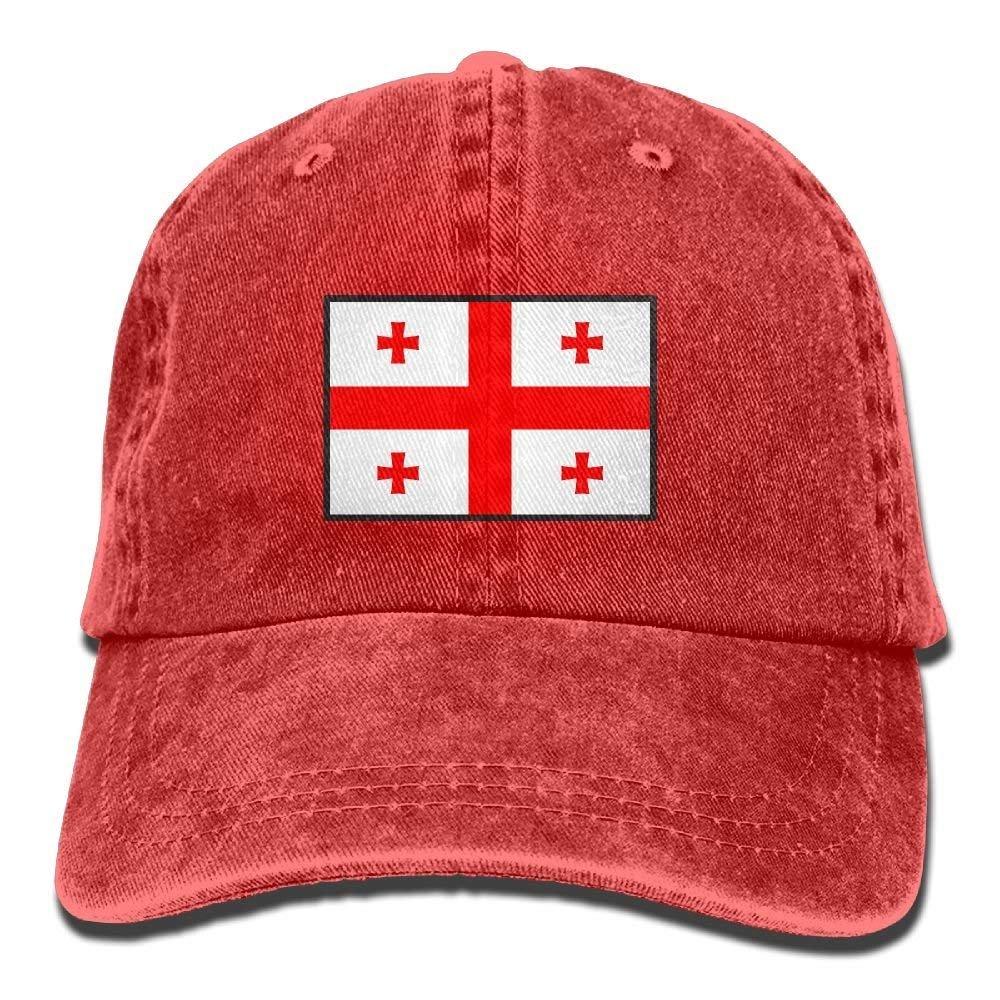 Flag of Georgia Denim Cap Dad Hat