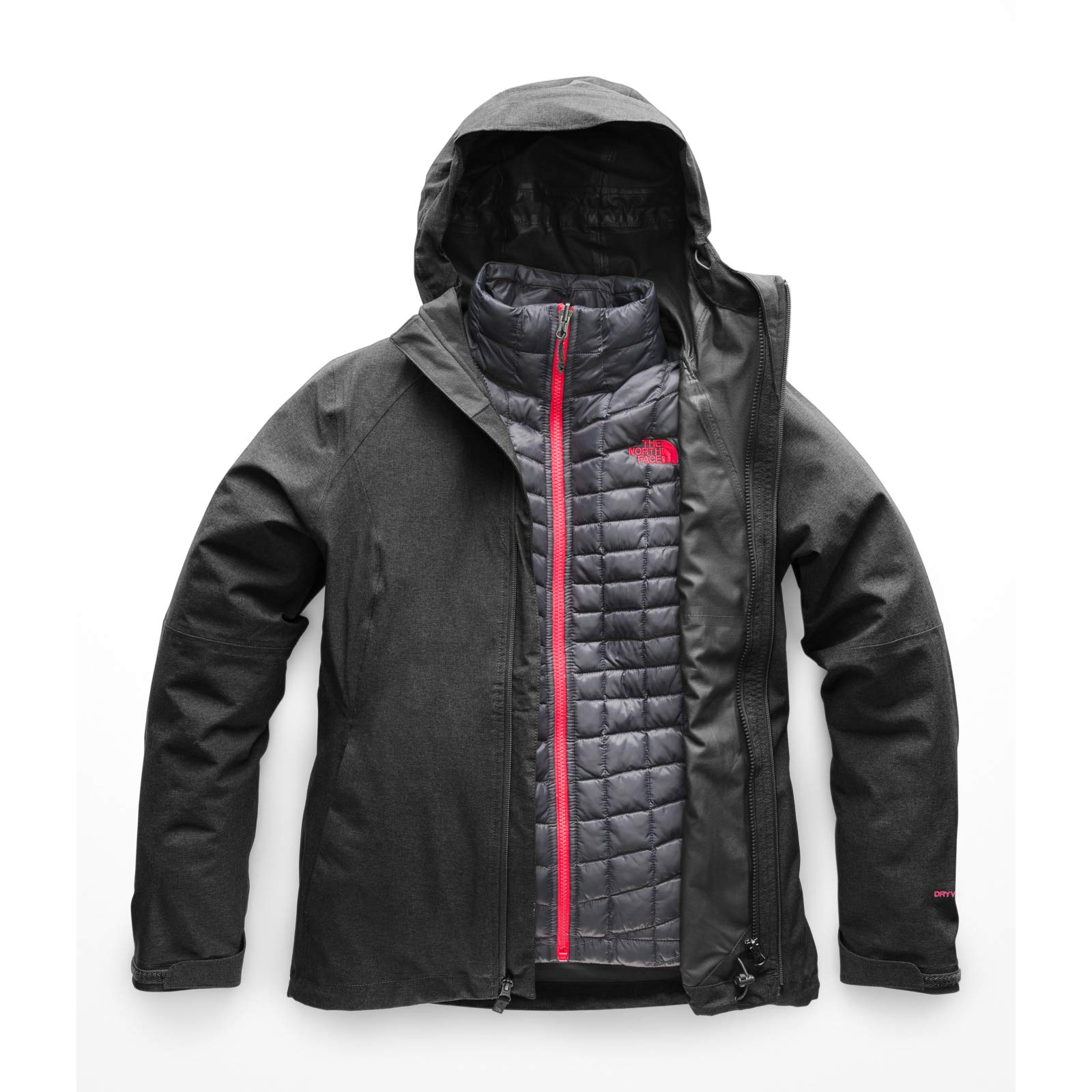 The North Face Women's Thermoball Triclimate Jacket, TNF Dark Grey Heather, Medium by The North Face