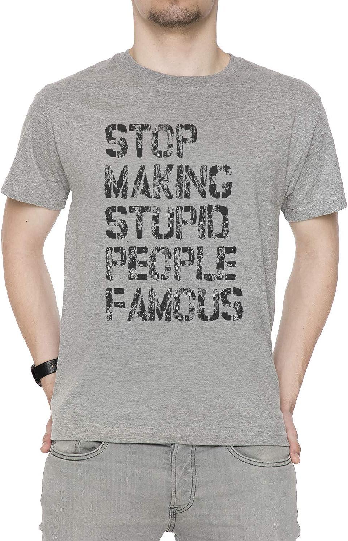 Stop Making Stupid People Famous Hombre Camiseta Cuello Redondo ...